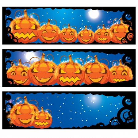 illustration of halloween banners Vector