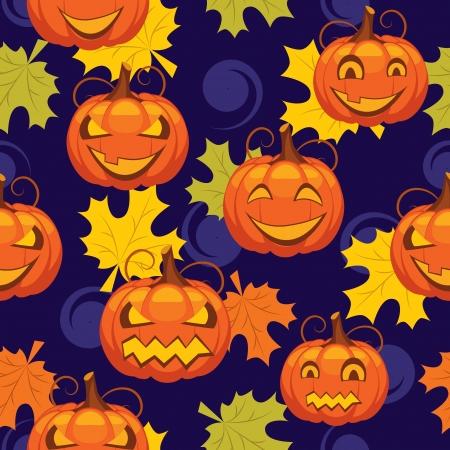 fabric label: seamless pattern of Halloween Illustration