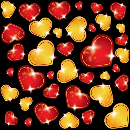 versatile: abstract background with hearts