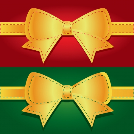 red stitches: bow