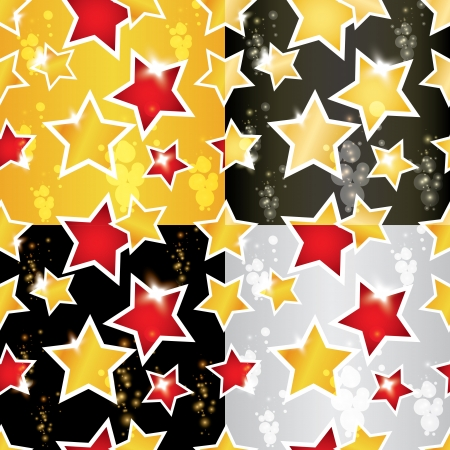 seamless pattern with the stars Vector