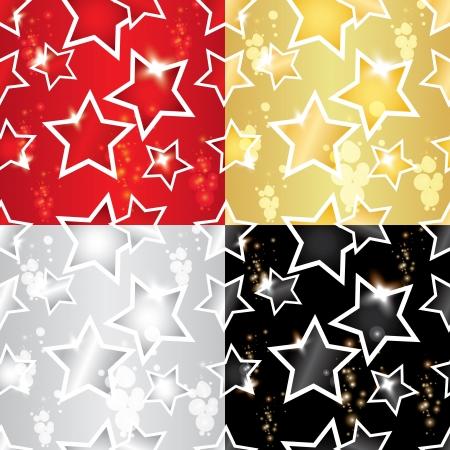 Seamless pattern avec les étoiles Banque d'images - 14530878