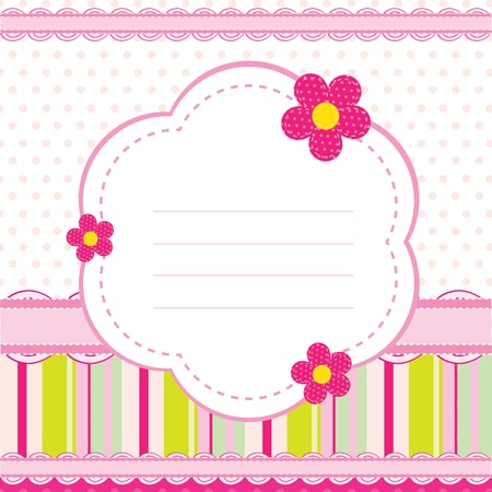 background for a baby girl Vector