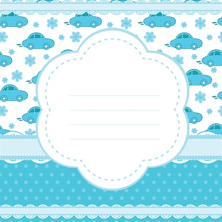 background for a baby boy Vector