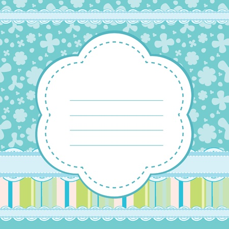 Vector background for a baby boy Vector