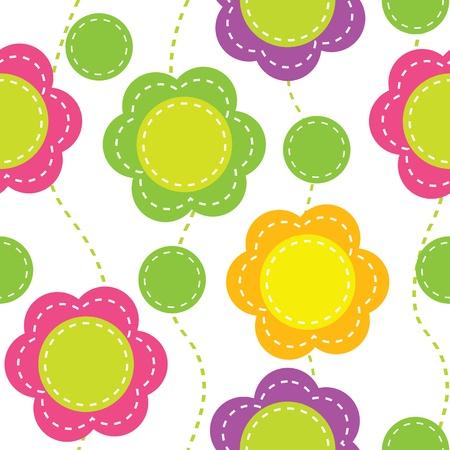 Бесшовные шаблон с абстрактными цветами