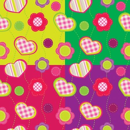 Seamless pattern avec des fleurs abstraites Banque d'images - 14627569