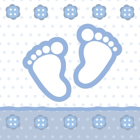baby feet: baby boy announcement card
