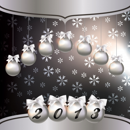 Greeting card with the New Year 2013 Vector