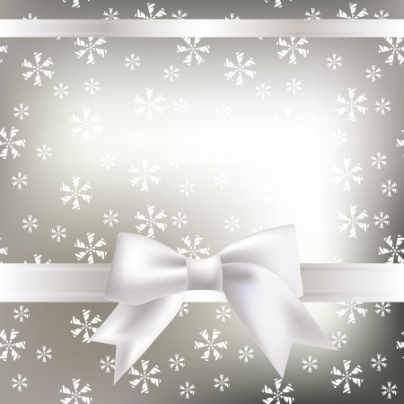 Vector Christmas background with a bow Vector