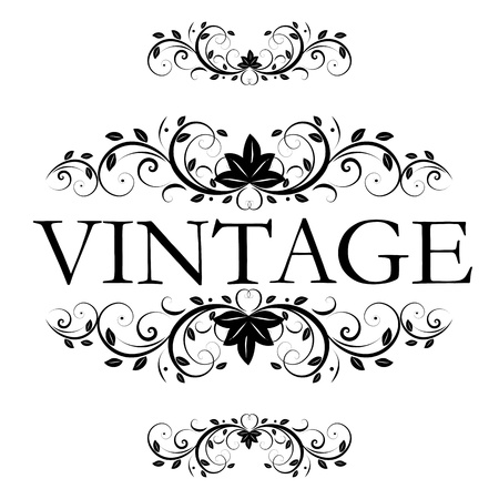 white: vector vintage decor