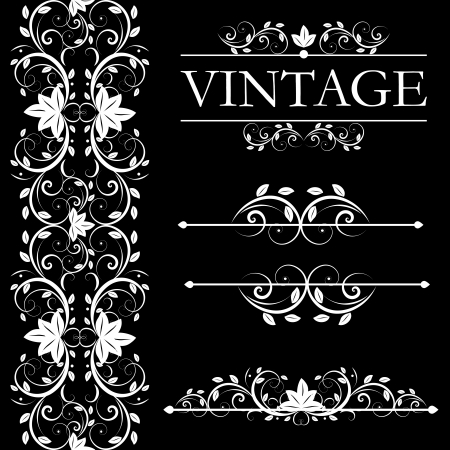 victorian textile: vector vintage decor