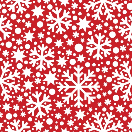 Seamless winter pattern with snowflakes Stock Vector - 15068041