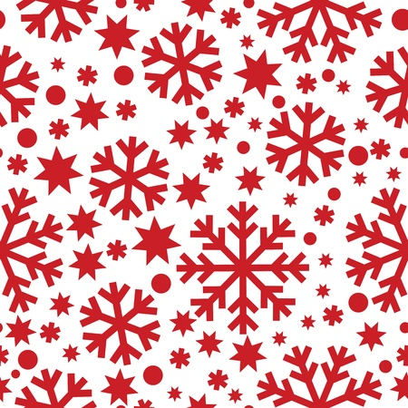 nbsp: Seamless winter pattern with snowflakes