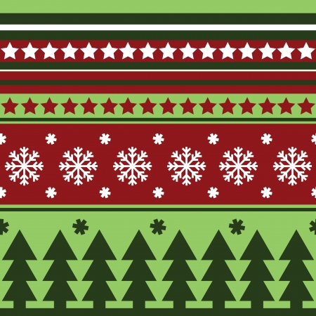 Traditional seamless winter pattern Vector