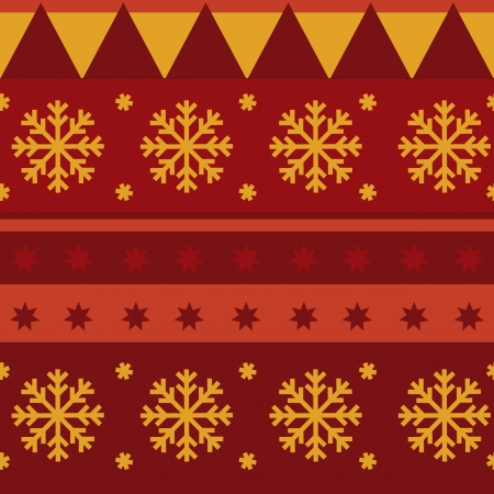 Traditional Christmas seamless pattern Vector