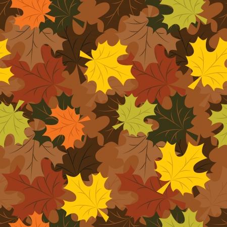 hojas de maple: patr�n transparente de oto�o las hojas de arce Vectores