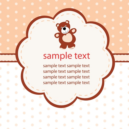 Baby greeting card Stock Vector - 15120404