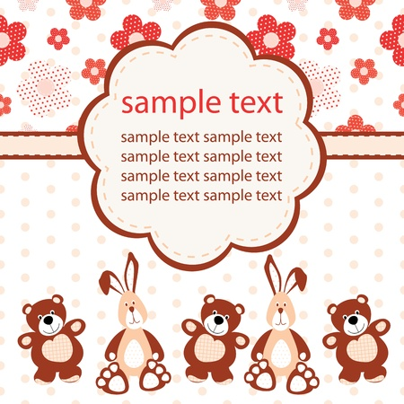 Baby greeting card Stock Vector - 15120416