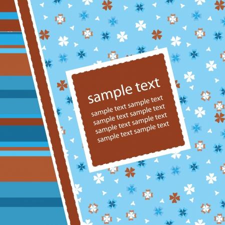 Greetings card illustration Stock Vector - 15120410