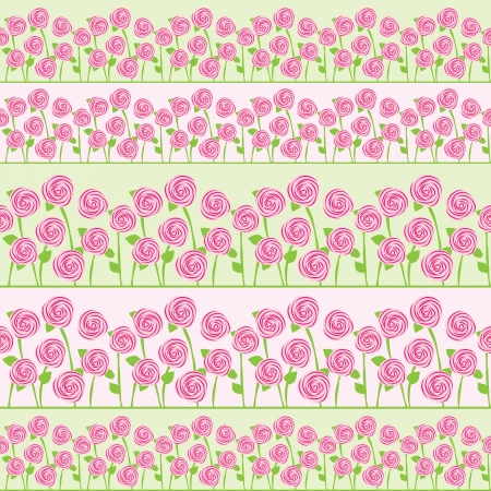 vintage roses: vector seamless pattern of roses