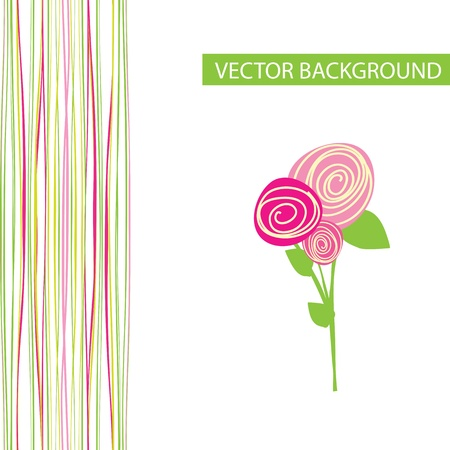abstract flowers: vector abstract background with flowers Illustration