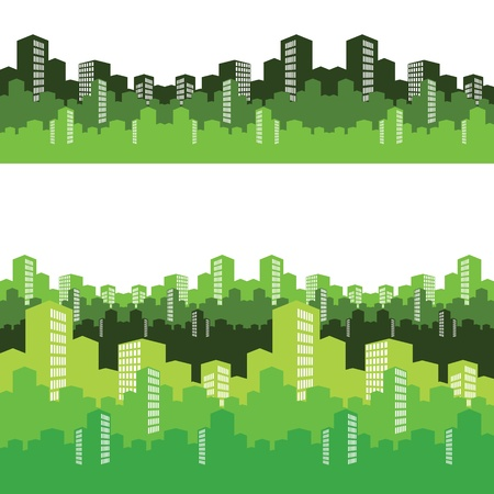 green city, illustration, background Vector
