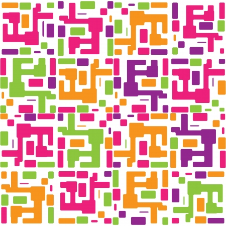 drawing on the fabric: abstract colorful seamless pattern background Illustration