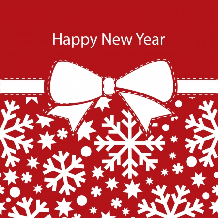 greeting christmas card, happy new year Vector