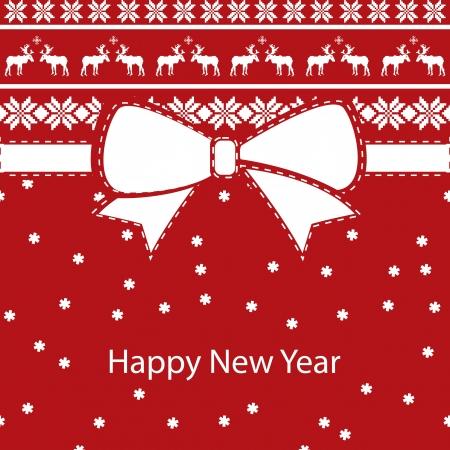 greeting kerstkaart, Gelukkig Nieuwjaar