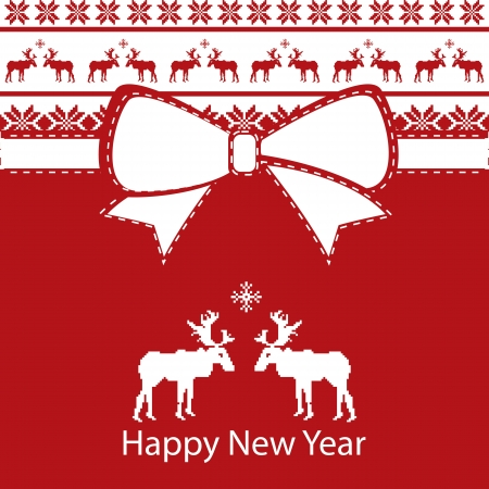 greeting christmas card, happy new year Stock Vector - 15351120