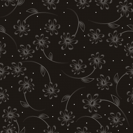 acirc: seamless floral pattern