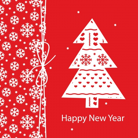 New Year greeting card Stock Vector - 15351115