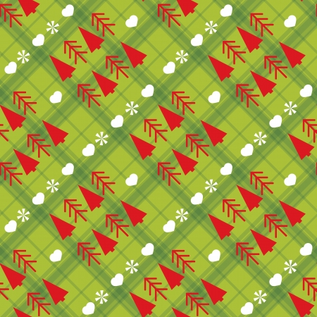 christmas pattern: Christmas seamless pattern with Christmas trees Illustration