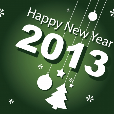 design, banner, new year 2013 Vector