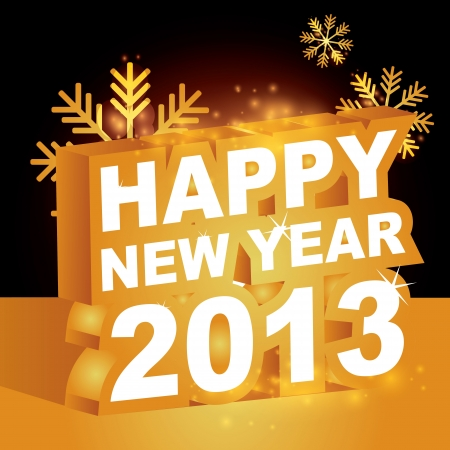 3D, Happy new year 2013 Stock Vector - 15755863