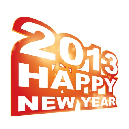 Happy new year 2013 Stock Vector - 15755869