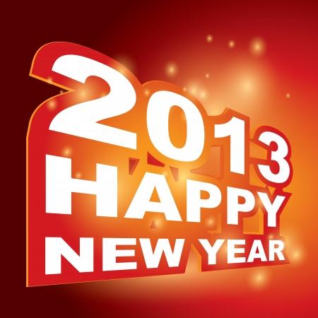 Happy new year 2013 Stock Vector - 15755859