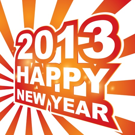 3D , Happy new year 2013 Stock Vector - 15755855