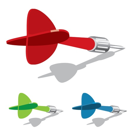 vector dart Stock Vector - 15842353