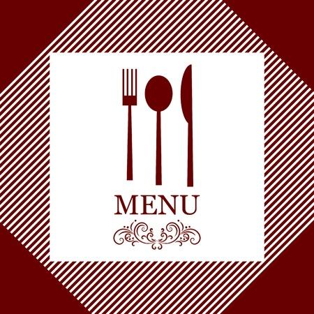 food logo: vector restaurant menu