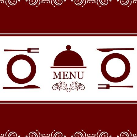 Menu de restaurant vecteur Banque d'images - 15976157