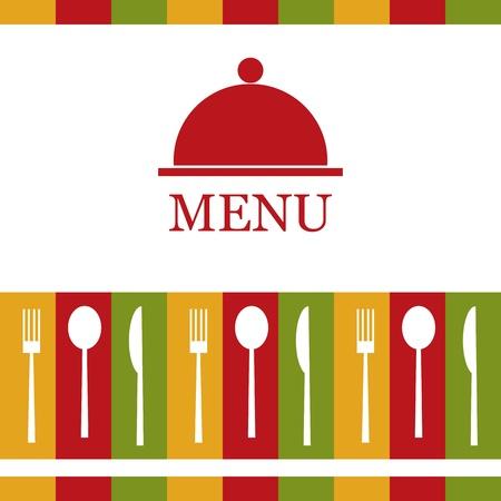 menu restaurant: Menu de restaurant Vecteur