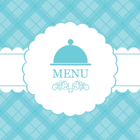 blue white kitchen: Vector restaurant menu