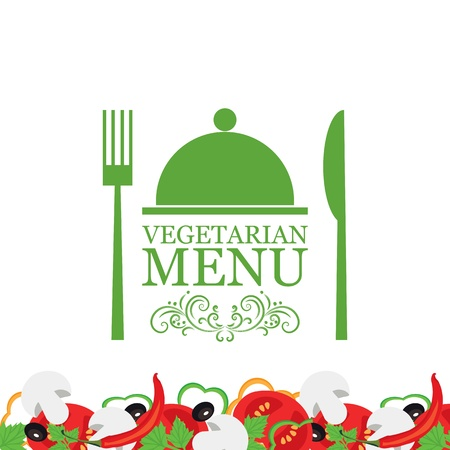 Menu végétarien vecteur Banque d'images - 15976154