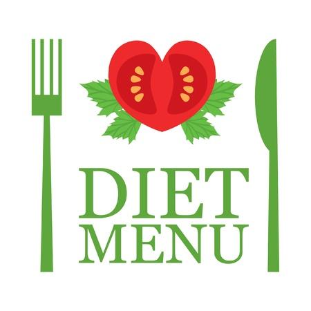 logos restaurantes: Vector men� de dieta Vectores