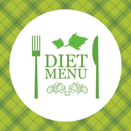 logo de comida: Vector menú de dieta Vectores