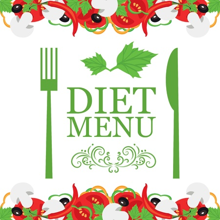 Vector diet menu Vector