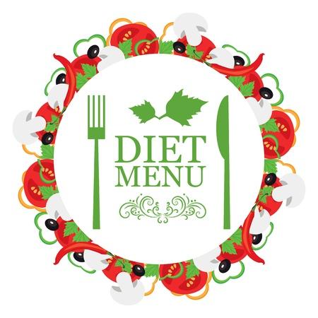 decorative item: Vector diet menu