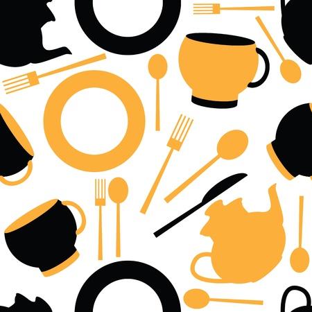 style: seamless pattern of kitchen
